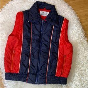 Vintage Retro Sears Nylon Outdoor Vest M
